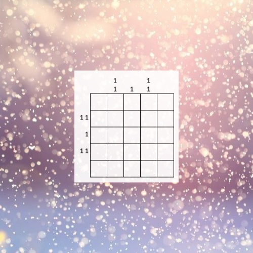 Nonogram Puzzle: Little Snowflake