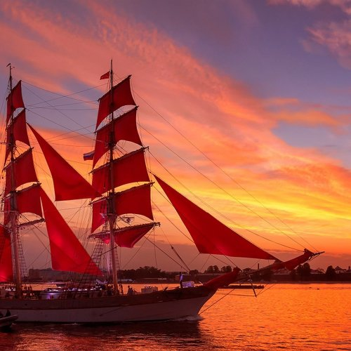 The Scarlet Sails, St. Petersburg jigsaw puzzle